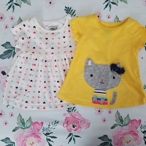 Baby girl summer tshirts 3-6 months